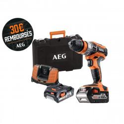 Perceuse percussion AEG 18V - 1 batterie 2.0Ah - 1 batterie 4.0Ah - 1 chargeur BSB18C2X LI-X02C