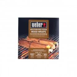 Lot de Feuilles à fumage Weber - pour barbecues - en bois de cèdre rouge - 8pcs