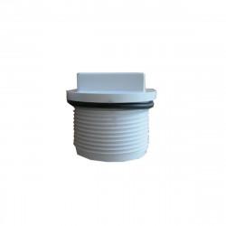 Bouchon PVC long d'hivernage pour piscine - Avec joint torique