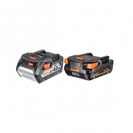 Pack AEG batterie 18V Lithium-ion 4.0Ah L1840R - batterie 18V Lithium-ion 2.0Ah L1820S