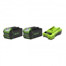 Pack GREENWORKS 40V - 2 batteries 4,0Ah Lithium-ion - 1 Chargeur