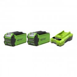 Pack GREENWORKS 40V - 2 batteries 2,0Ah Lithium-ion - 1 Chargeur