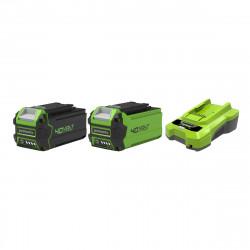 Pack GREENWORKS 40V - 2 batteries 4,0Ah et 2,0Ah Lithium-ion - 1 Chargeur