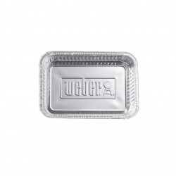 Barquettes en aluminium Weber - pour barbecue - 5,0x23,11x33,27cm - 10pcs