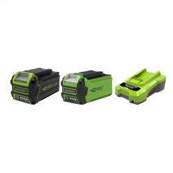 Pack GREENWORKS 40V - 2 batteries 6,0Ah et 2,0Ah Lithium-ion - 1 Chargeur