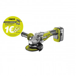 Meuleuse d'angle RYOBI 18V LithiumPlus OnePlus Brushless - 1 batterie 4,0 Ah - 1 chargeur rapide - R18AG7-140S